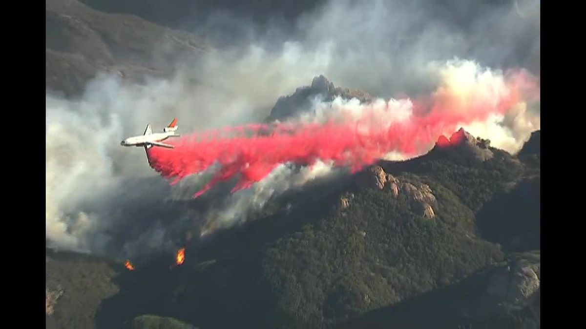 Wildfires scorch California as dry, windy conditions continue