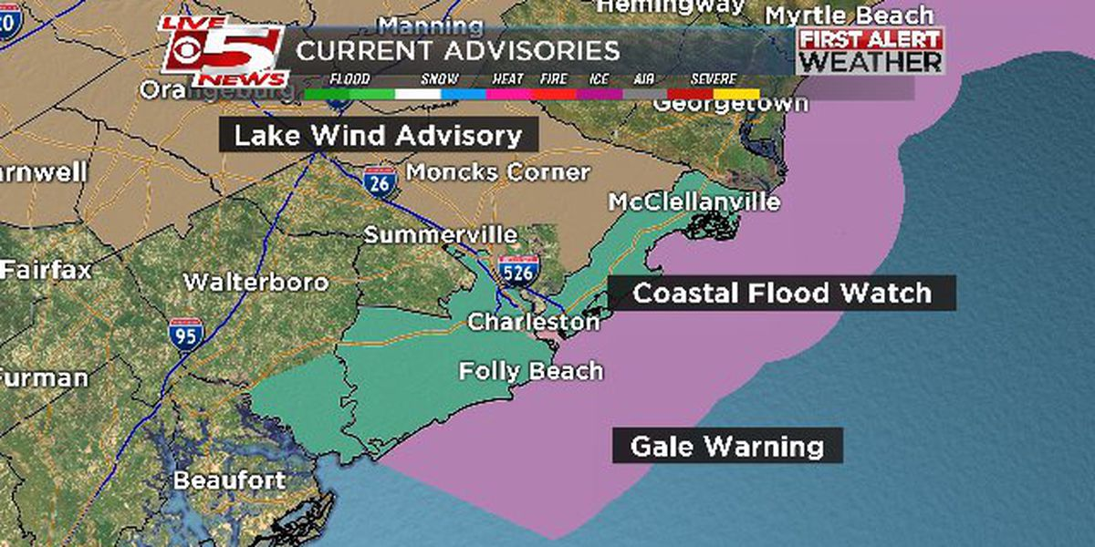 FIRST ALERT WEATHER: Coastal flooding, heavy rain expected this morning
