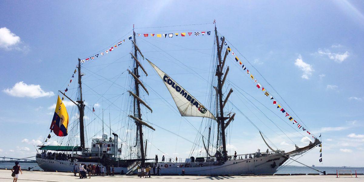 "Tall Ship ""Gloria"" docks in Charleston"