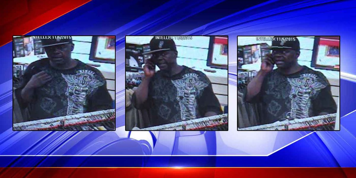 Wanted: Man caught on camera shoplifting at W. Ashley TJ Maxx