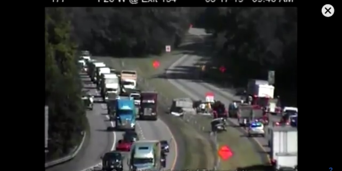 Blown tire leads to I-26 crash in Orangeburg County, major traffic backups
