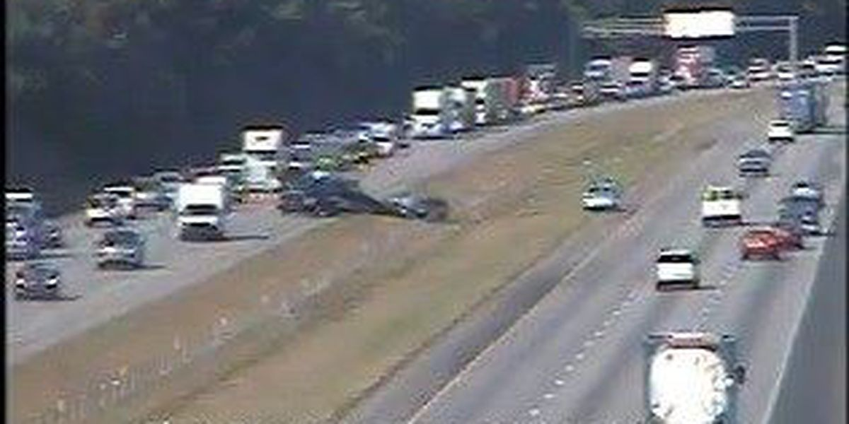 Traffic moving after accident on I-26 near exit to College Park Road