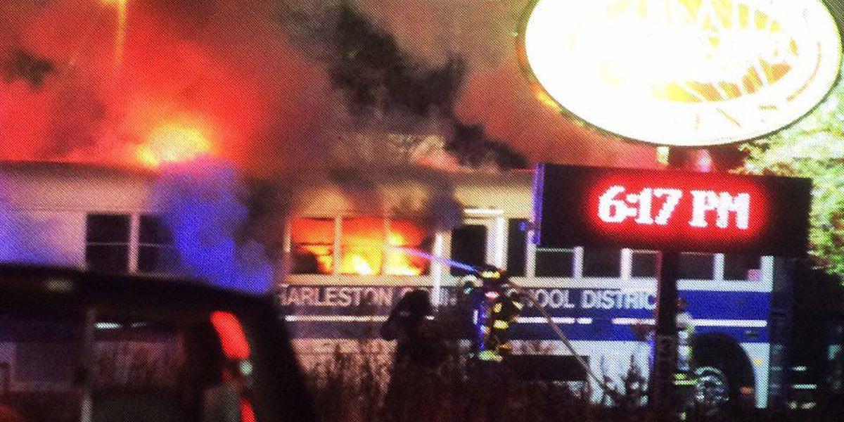 Students uninjured after school bus fire on Savannah Highway