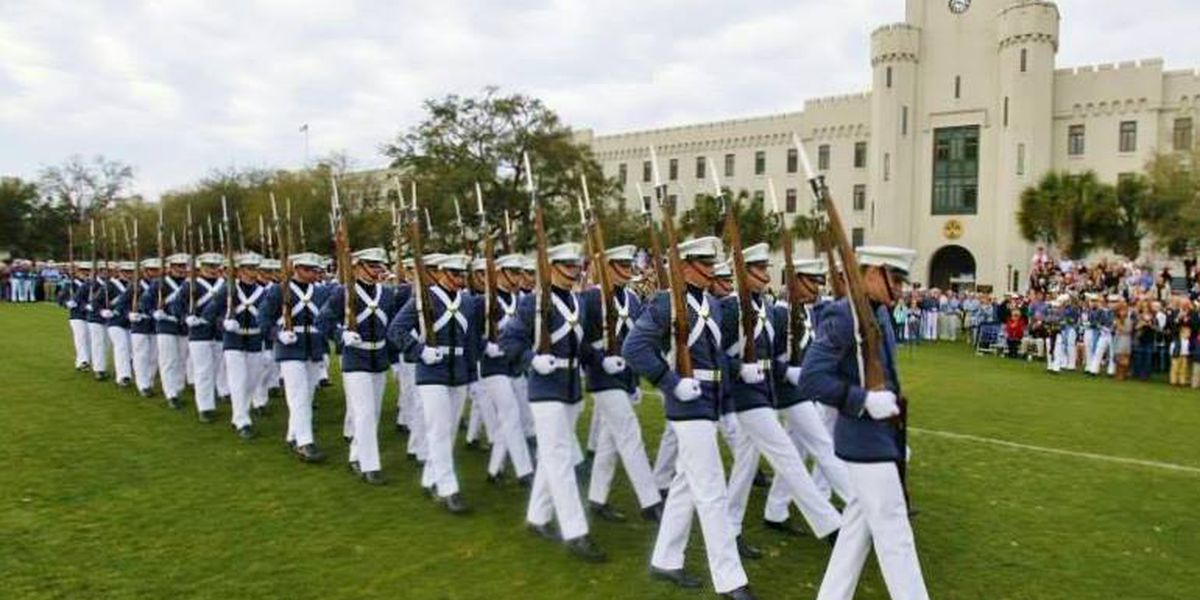 Citadel practicing before presidential inauguration performance