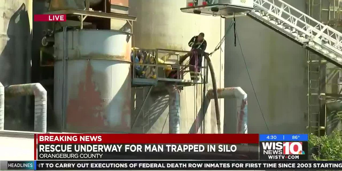 VIDEO: Rescue efforts underway for man trapped in Orangeburg silo