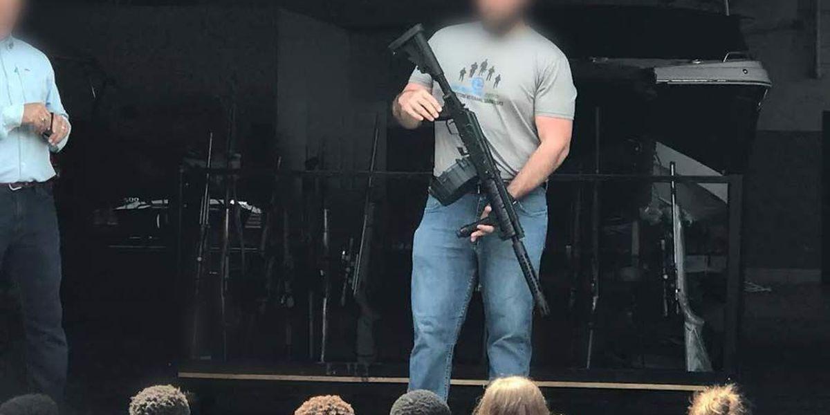 Parent upset after school trip detours, son shown guns without her permission