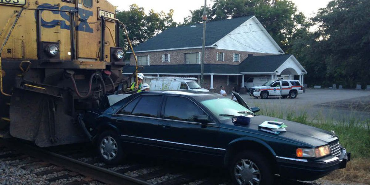 Police: Driver of car hit by train cited after attempting u-turn on track