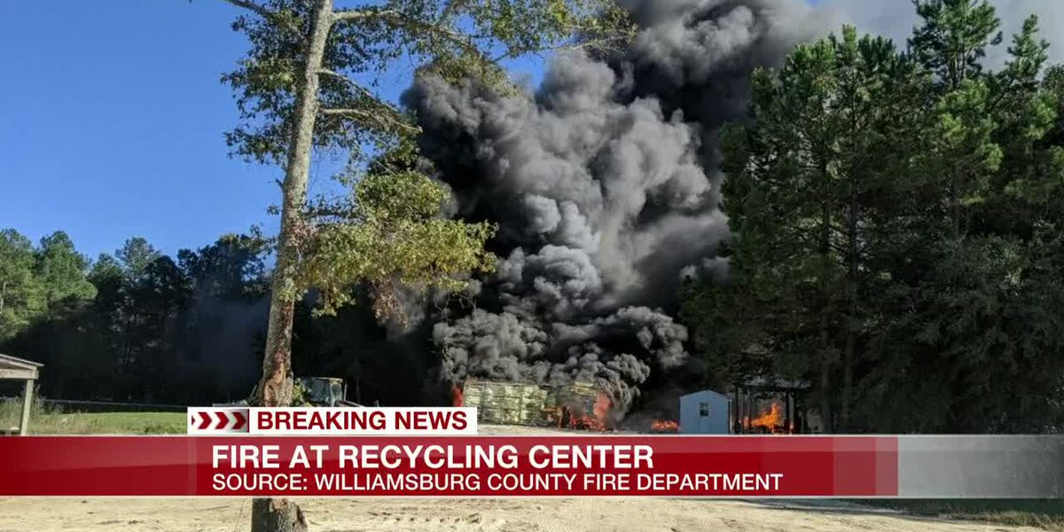 VIDEO: Crews battle fire at Williamsburg recycling center