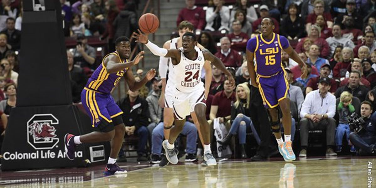 Gamecocks fall at home to LSU, 86-80