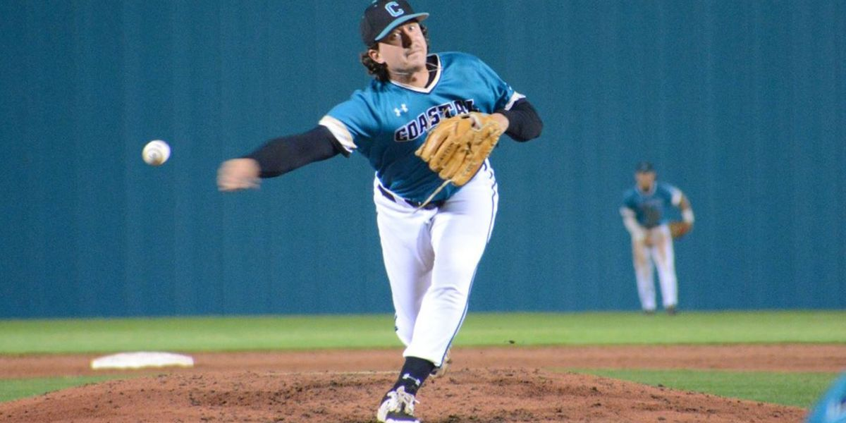 Abney Fans a Career-High Nine Hitters in Coastal's 2-1 Loss on Friday Night
