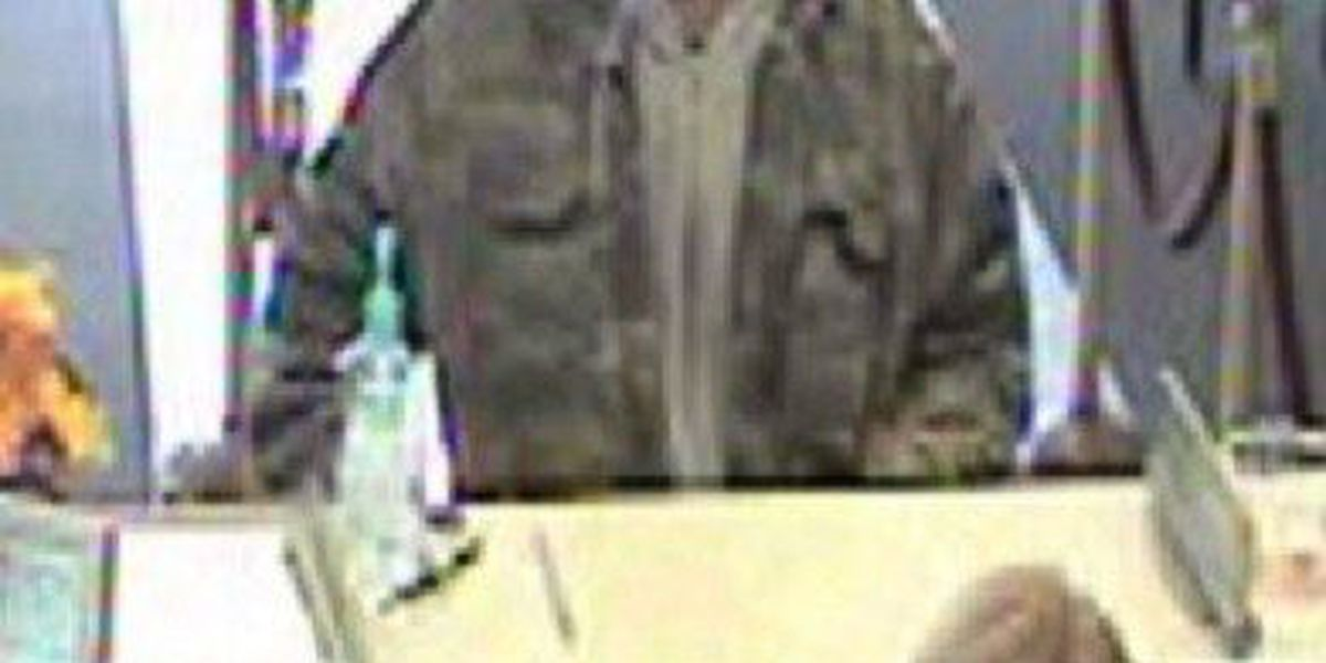 Photos released of suspected Summerville bank robber