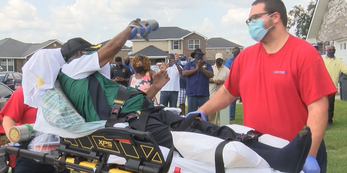Georgia man welcomed home after months-long battle with COVID-19