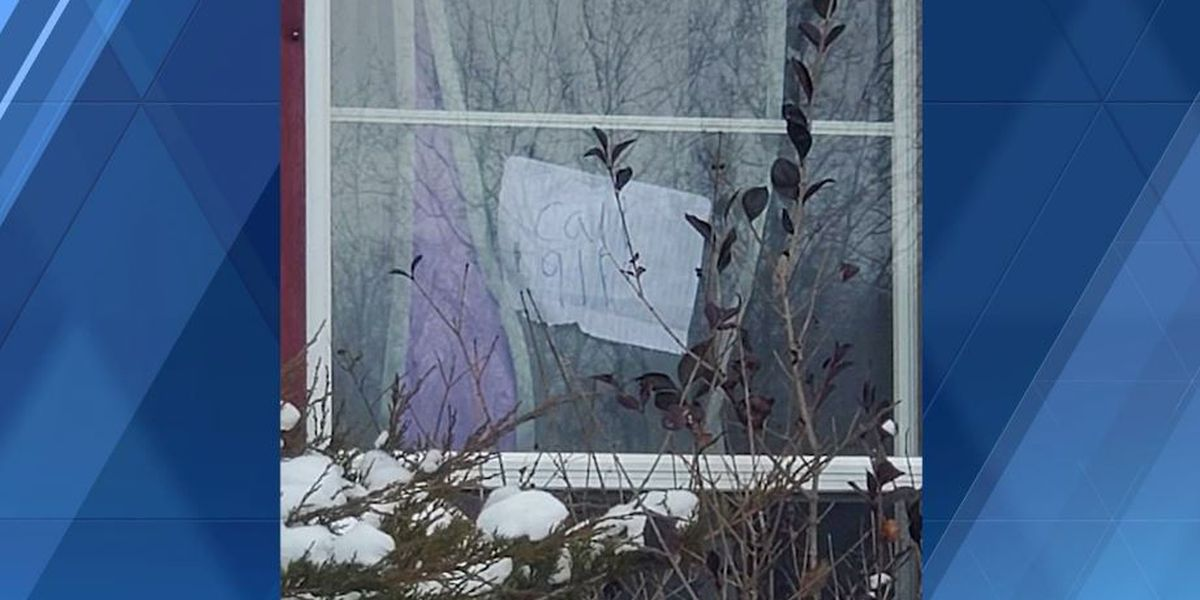 'Call 911': Assault victim gets help by posting sign on Pa. home's window