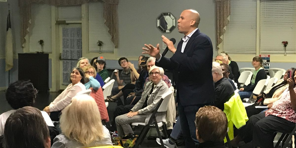 Cory Booker comes to South Carolina to discuss issues with voters