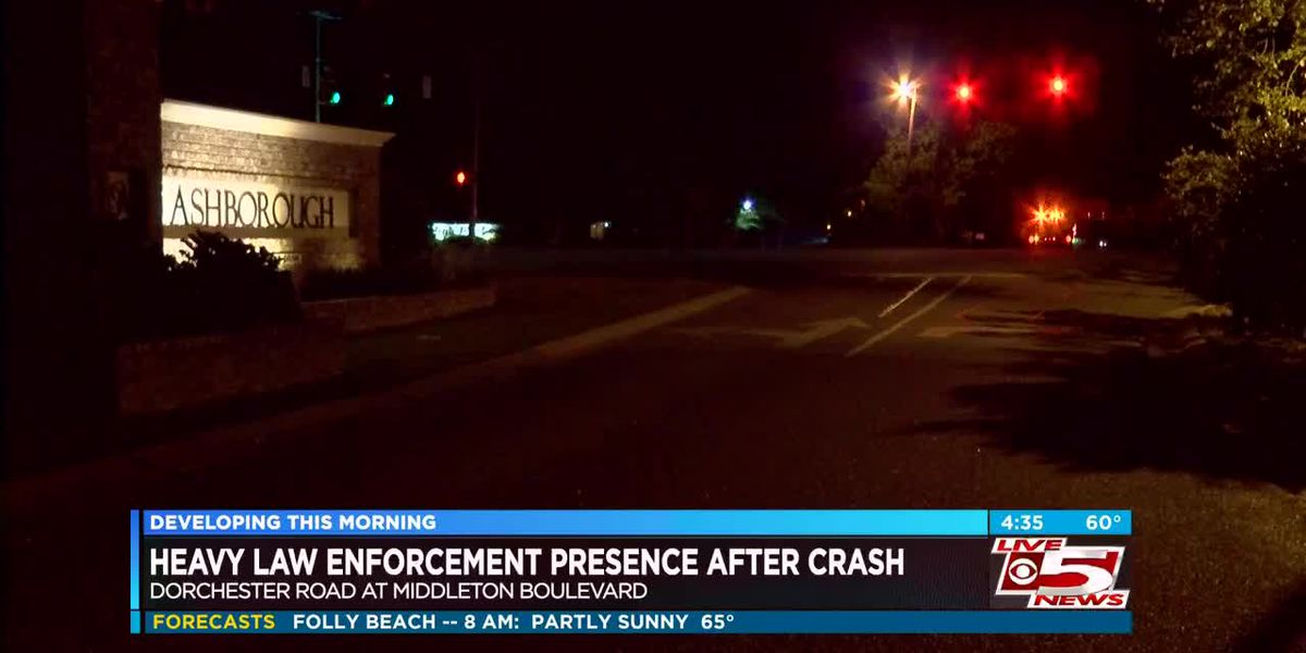 VIDEO: Law enforcement activity reported following crash in Ashborough East neighborhood