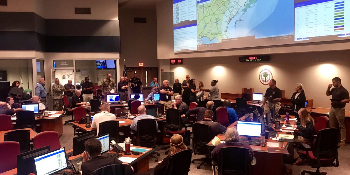 SC Emergency Operations Center now at OPCON 1 as Dorian strengthens to Category 5