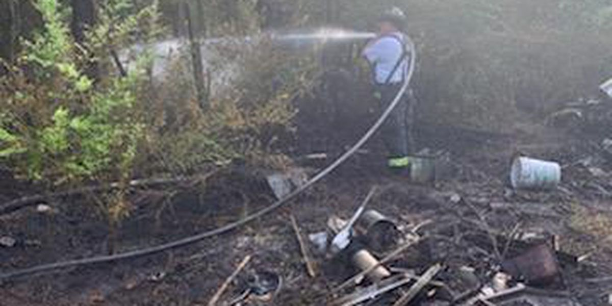 Crews respond to outside fire near Highway 17