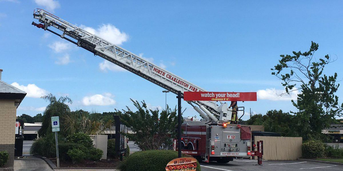 Firefighters extinguish fire at N. Charleston Burger King