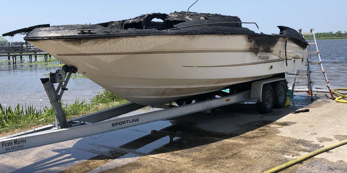 Boat on trailer catches fire at Pawleys Island boat landing