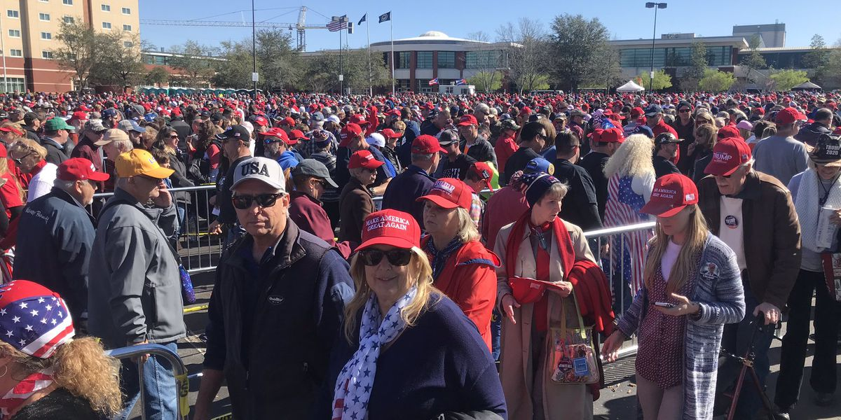 Thousands expected at President Trump rally at North Charleston Coliseum