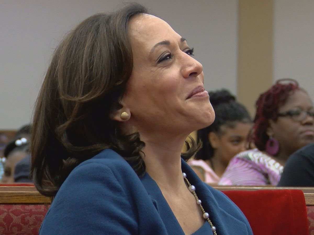 Sen. Kamala Harris spent time campaigning at a North Charleston church