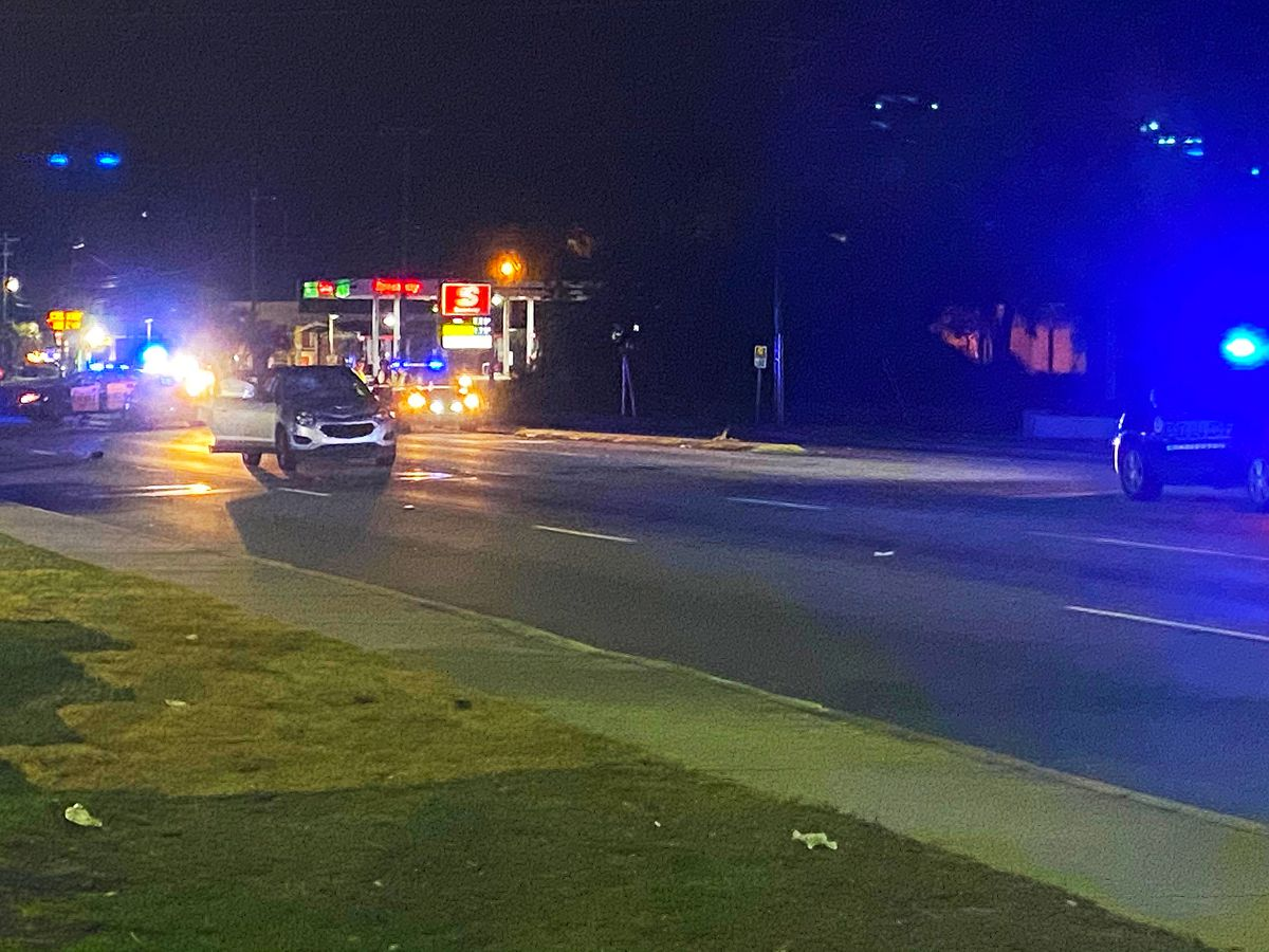 Portion of Savannah Highway closed following auto-pedestrian collision