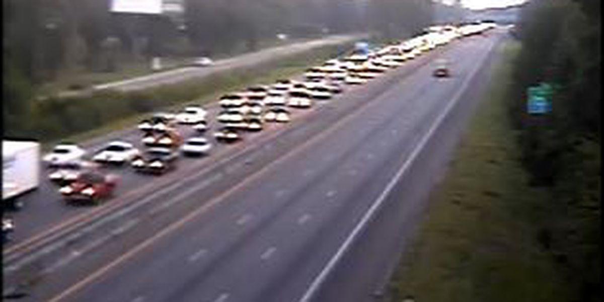 Traffic normalizing following accident near University Blvd