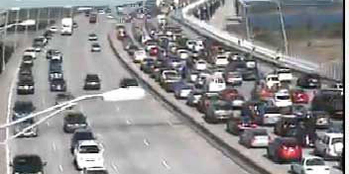 Traffic moving slowly on the Ravenel bridge following multi-vehicle accident
