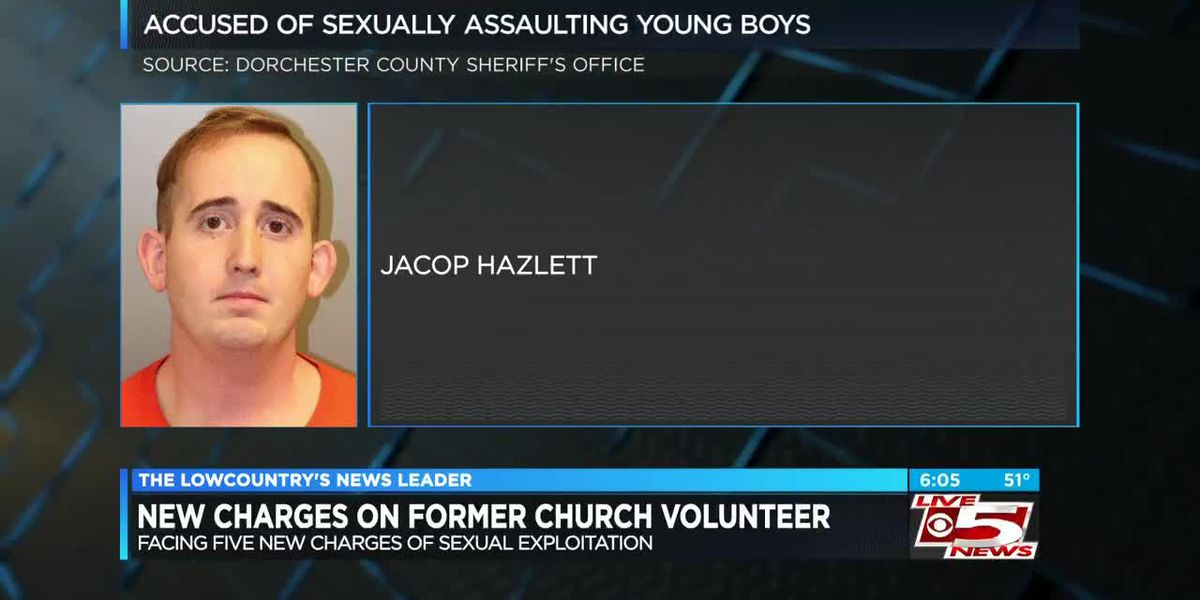 North Charleston church volunteer served with five more counts of sexual exploitation charges