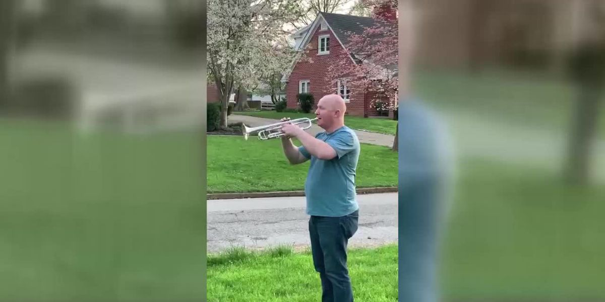 Man plays taps to honor war veteran who died from COVID-19