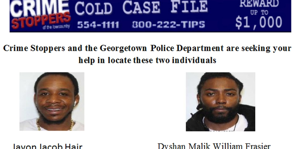 Crime Stoppers and Georgetown PD searching for two individuals wanted in murder case
