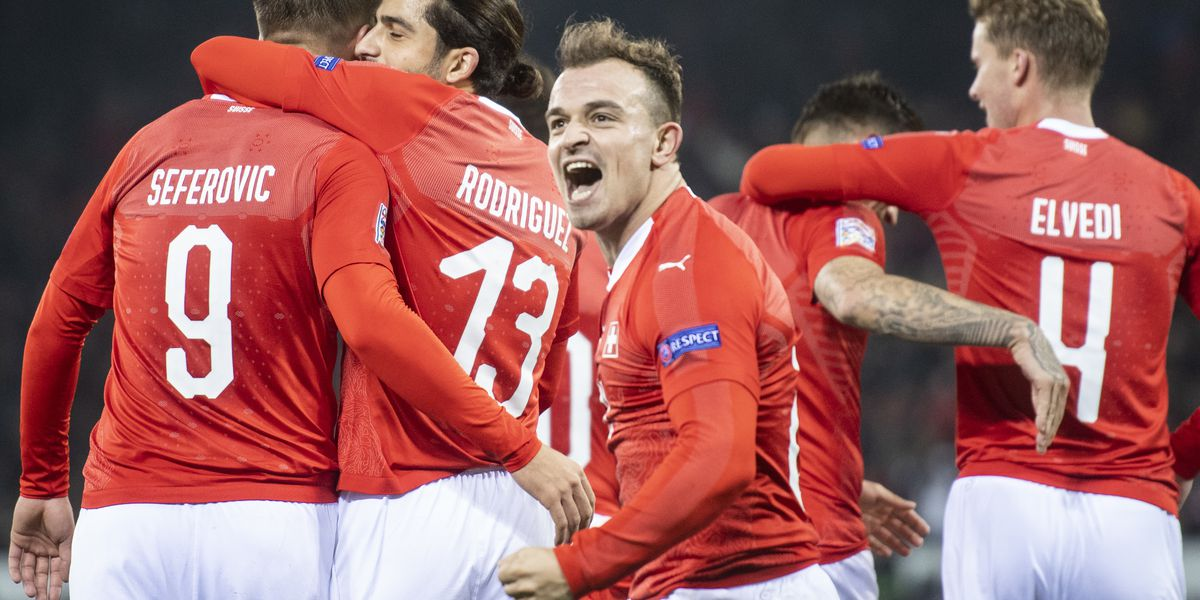 Swiss stun Belgium 5-2 to make Final 4 in Nations League