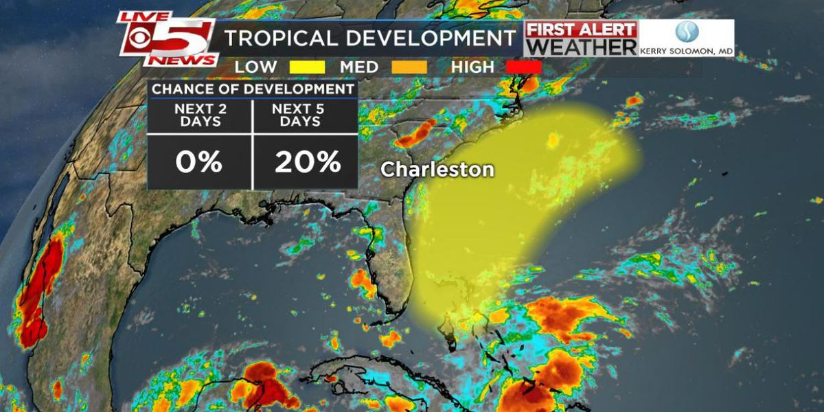 System in the Bahamas has low chance of development; chance of rain increases for Lowcountry