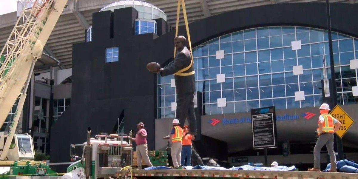 Carolina Panthers remove Jerry Richardson statue from Bank of America Stadium