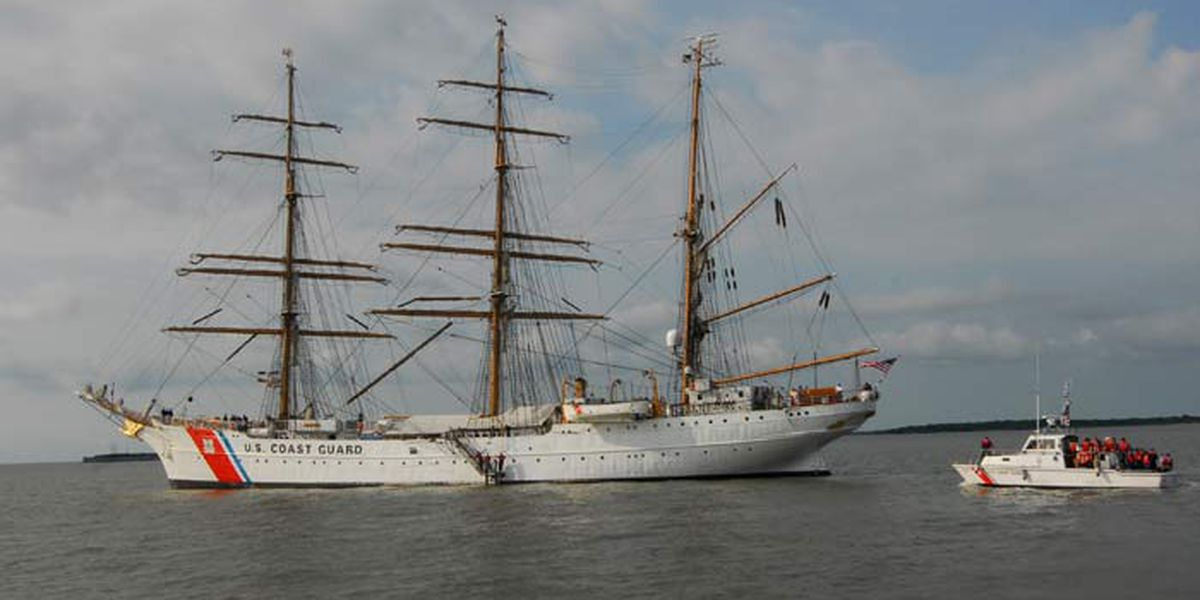 Coast Guard tall ship Eagle arrives in Charleston for weekend exhibits