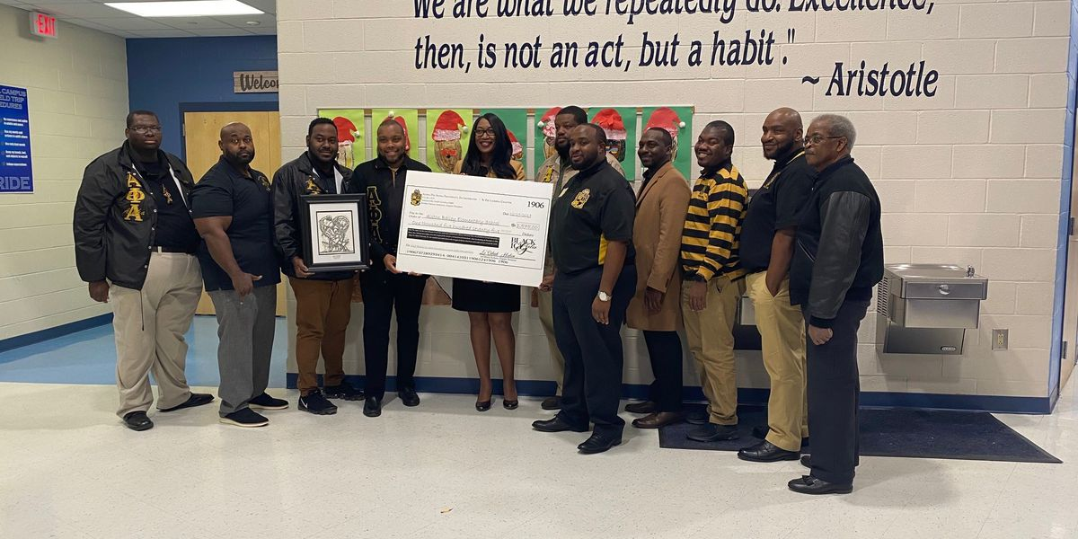 Fraternity chapter in Lowcountry helps lessen school lunch debt at DD2 elementary school
