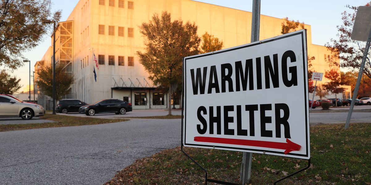 County governments announce warming shelters as chilly temperatures expected