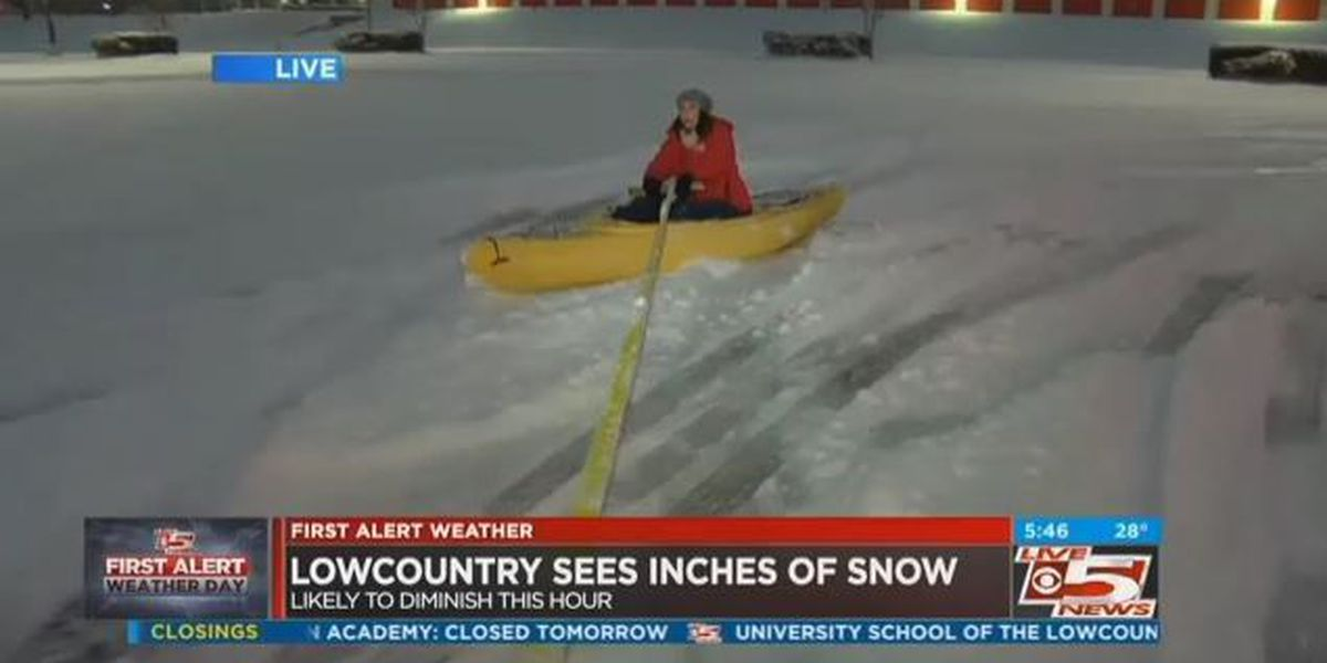 Oops! Reporter wipes out while sledding in kayak on live TV