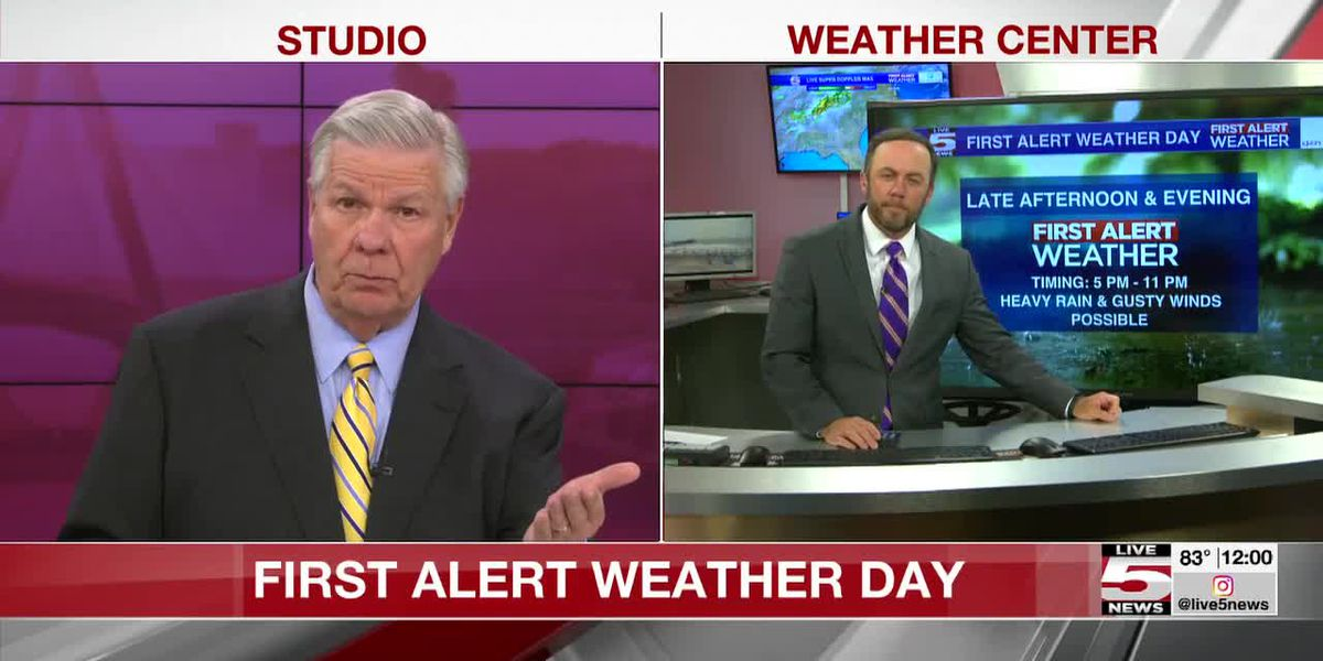 VIDEO: Storms possible after 6 p.m., some could be severe