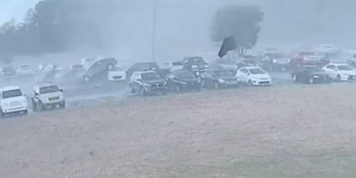 VIDEO: Tornado upends, tosses cars in Loris High School parking lot