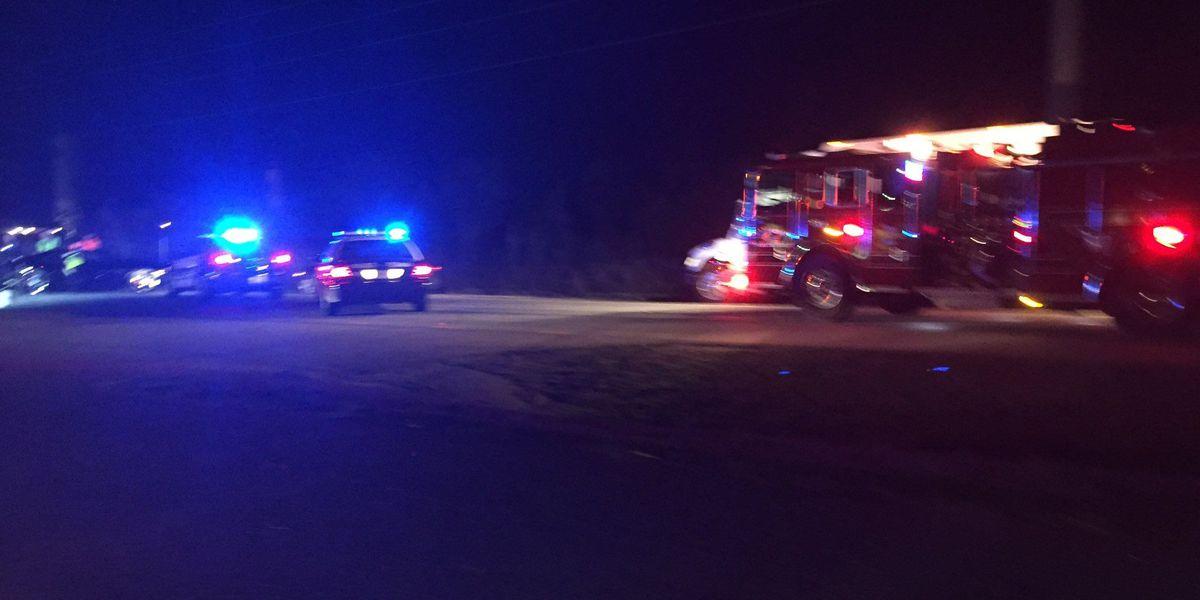 Emergency crews working accident on Savannah Highway