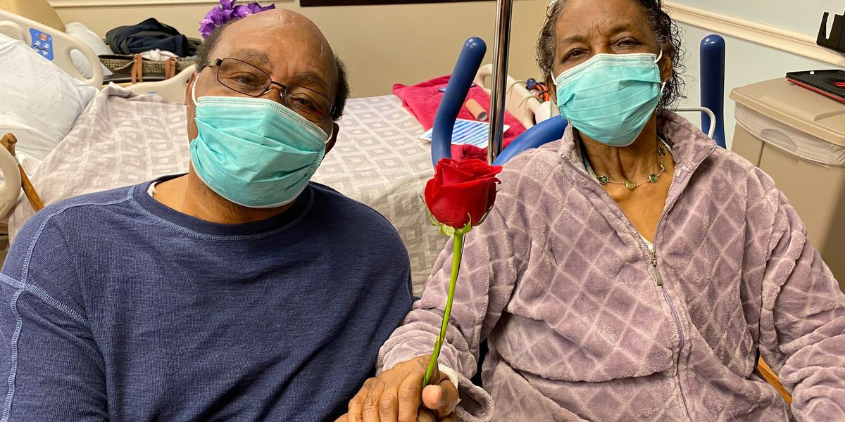 Couple renews wedding vows at Trident Medical Center.