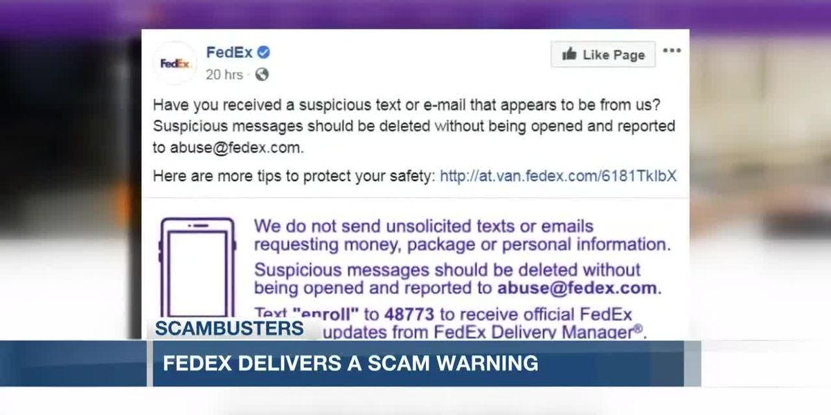 VIDEO: Live 5 Scambusters: FedEx delivers scam warning about phishing texts and emails