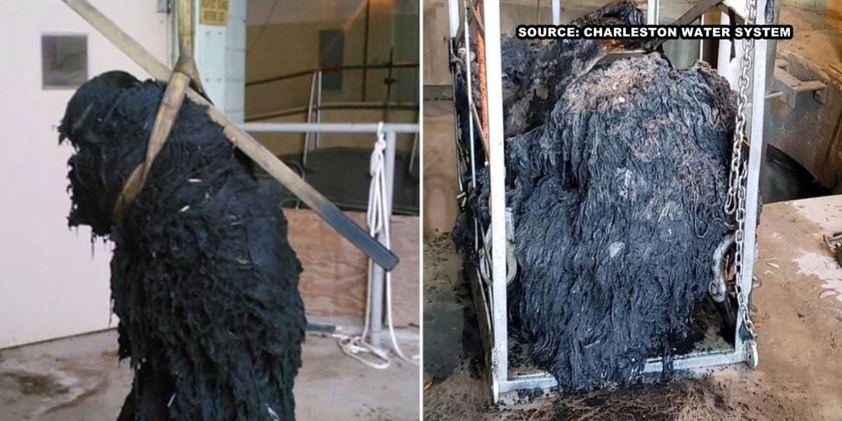 For second time, 'flushable wipes' cause major clog at Charleston Water System