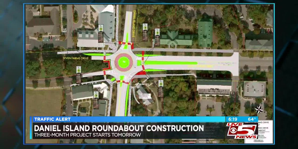 VIDEO: Daniel Island roundabout construction project to begin Monday