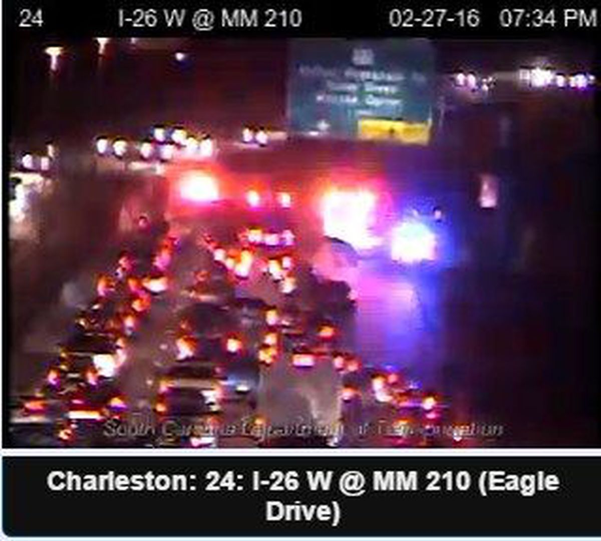 I-26 WB traffic near Ashley Phosphate back to normal after wreck