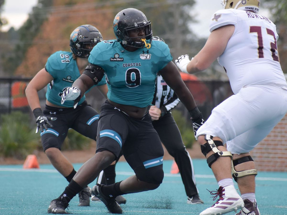 Coastal Carolina's Jackson Picks Up SBC Defensive Player of the Week Honors