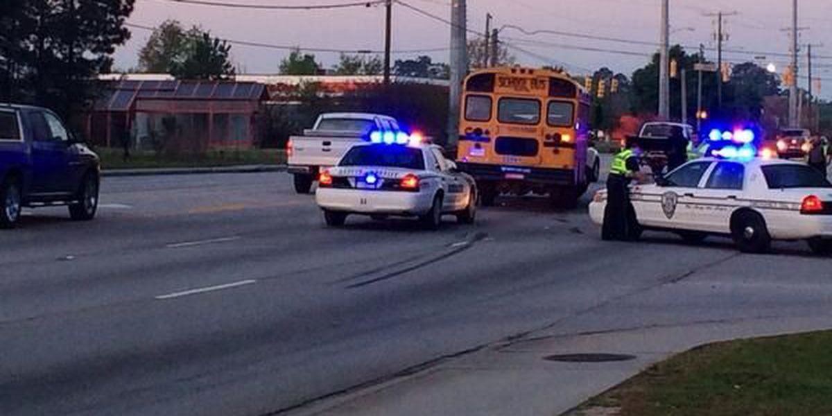 Lanes reopened after school bus accident on Ashley Phosphate Rd.