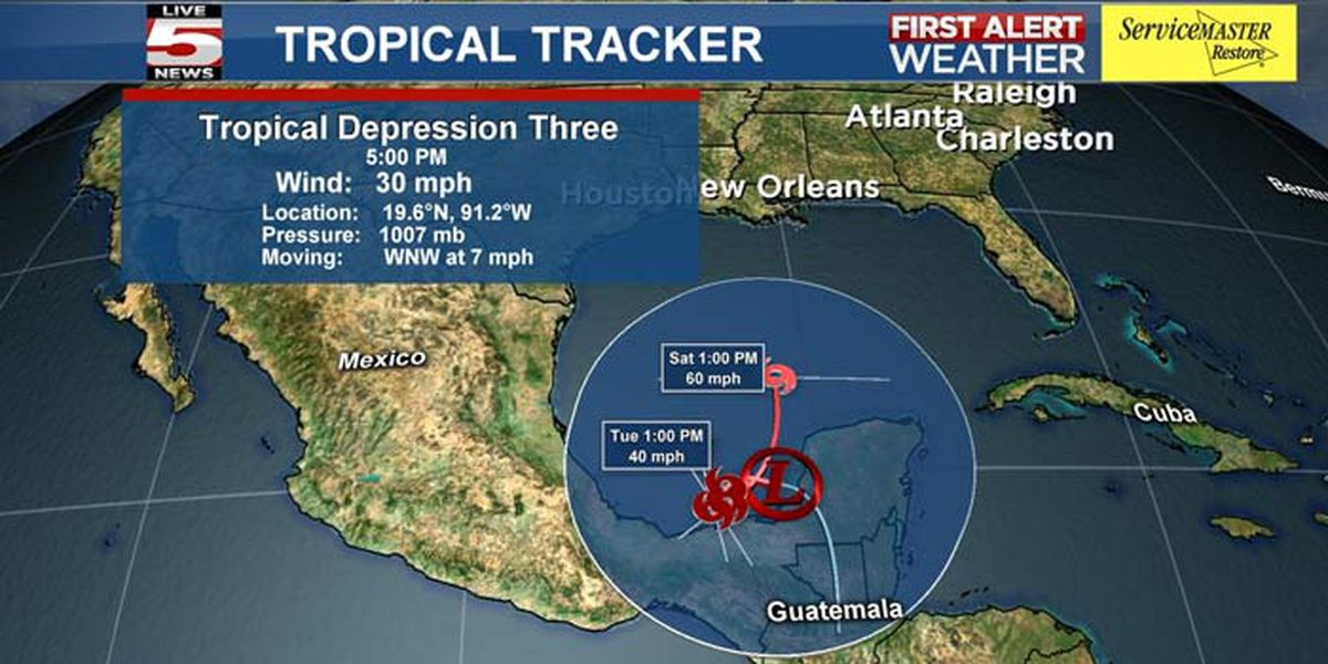 Tropical Depression 3 forms in southern Gulf of Mexico