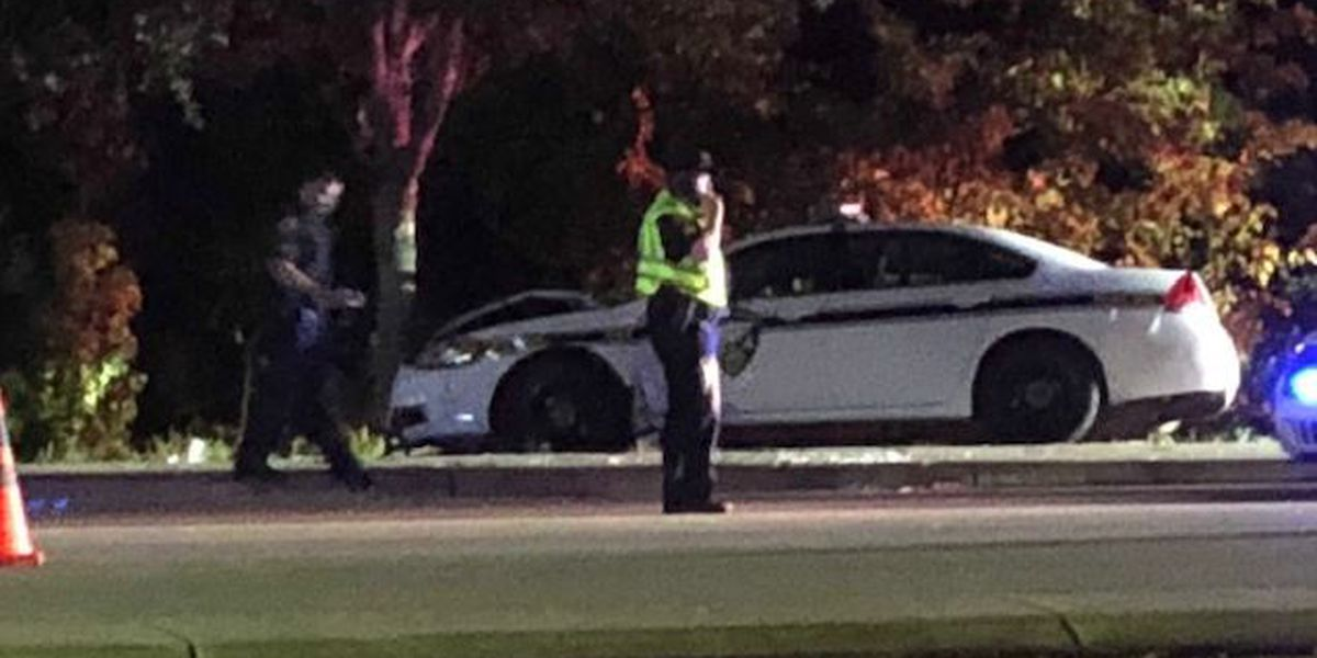 IOP Police car involved in accident Saturday night